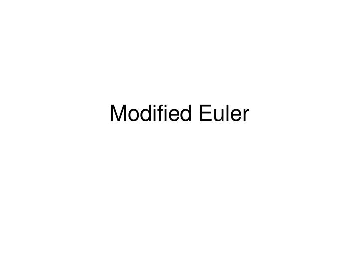 Modified Euler
