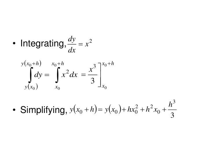 Integrating,