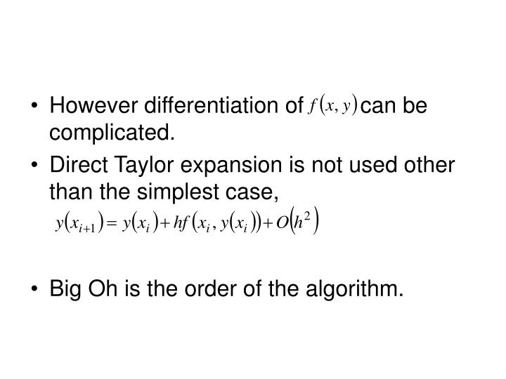 However differentiation of         can be complicated.