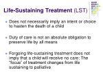 life sustaining treatment lst