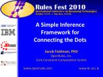 a simple inference framework for connecting the dots
