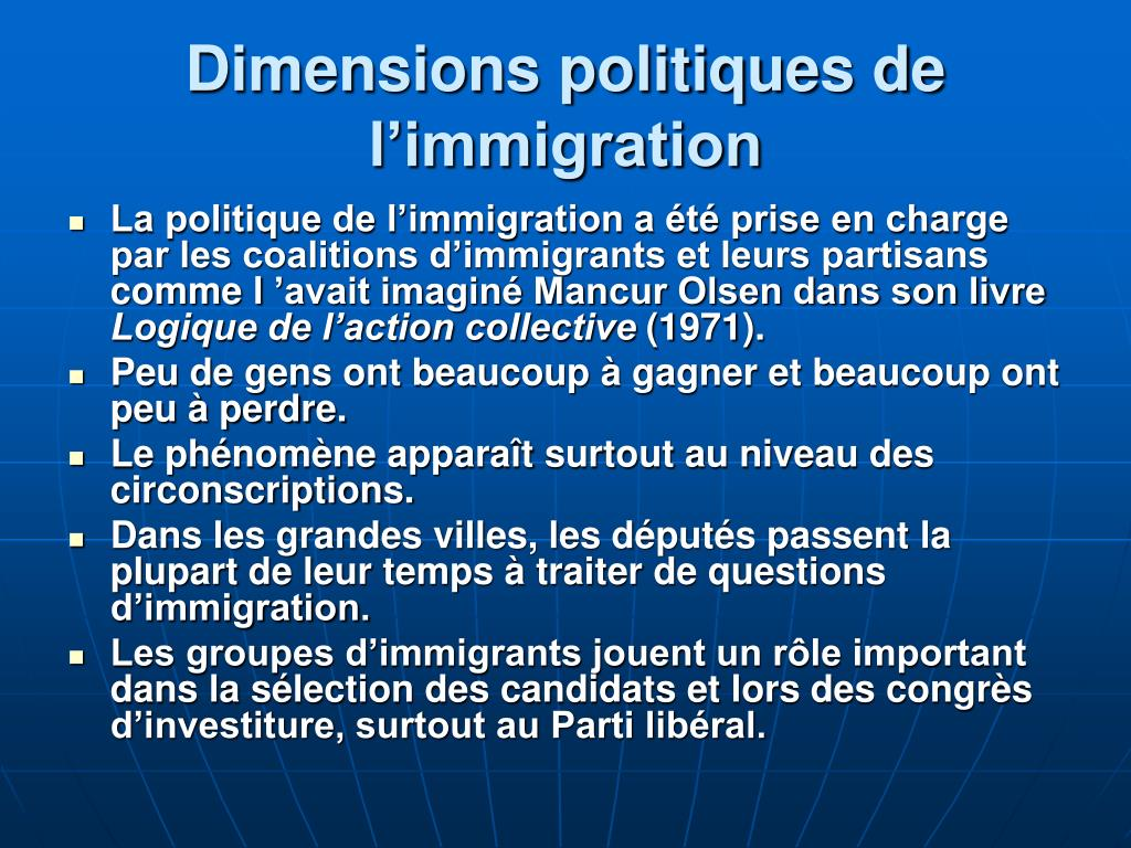 Dimensions politiques de