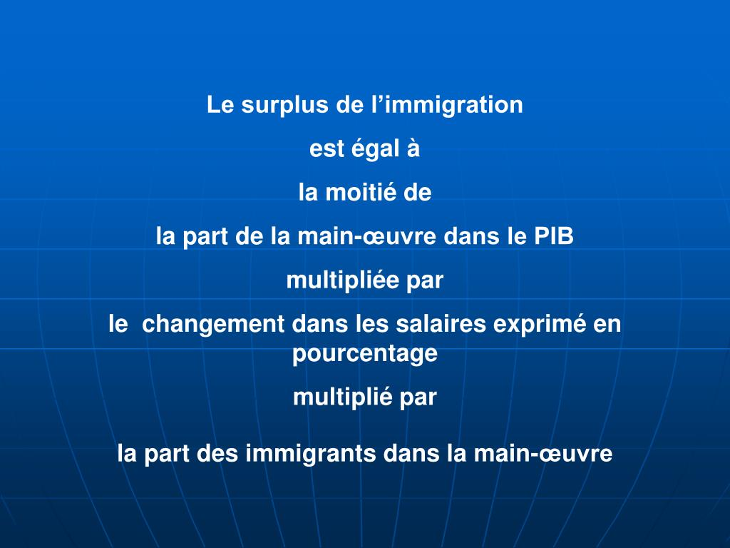 Le surplus de l'immigration