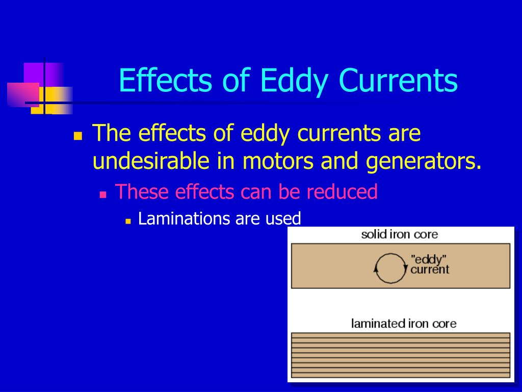Effects of Eddy Currents