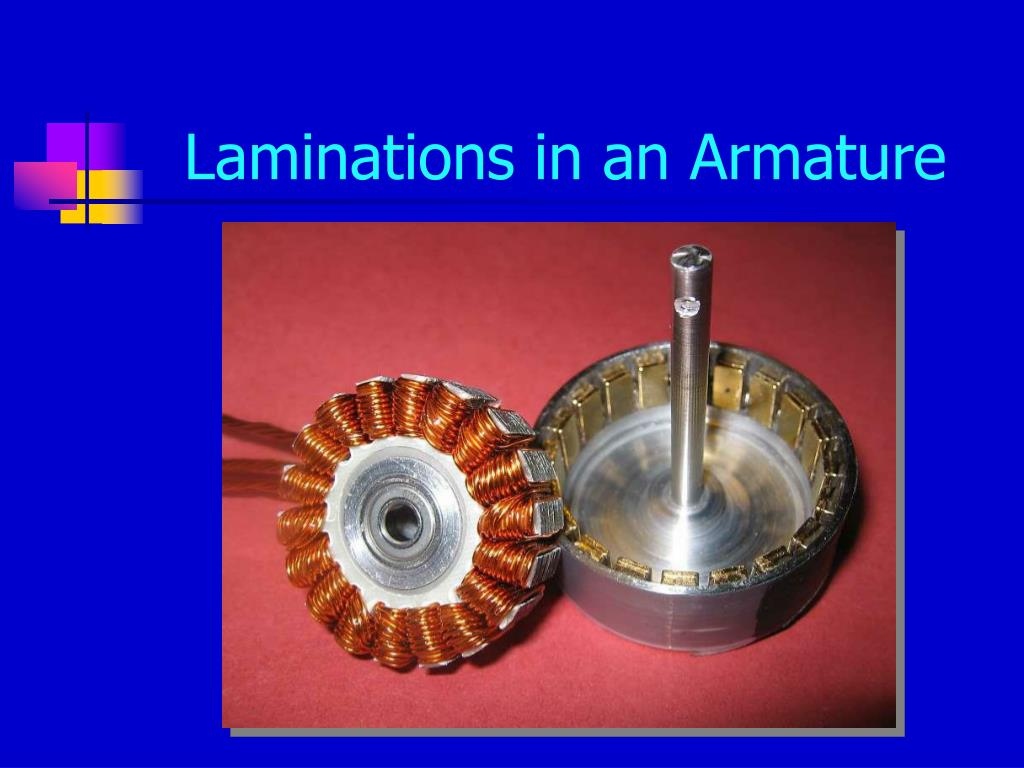 Laminations in an Armature