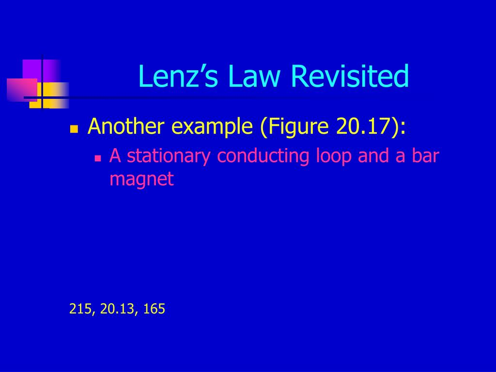Lenz's Law Revisited