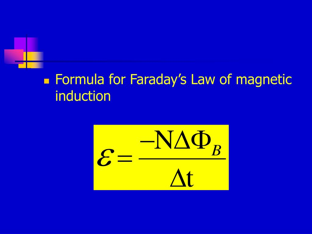 Formula for Faraday's Law of magnetic induction