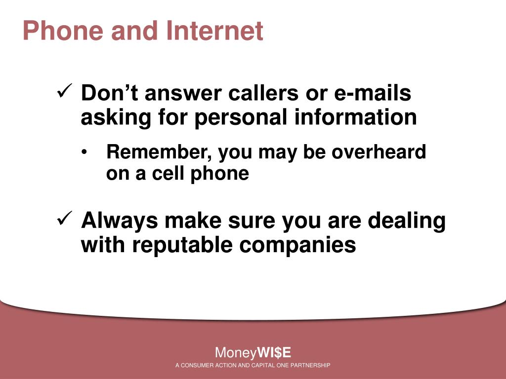 Phone and Internet