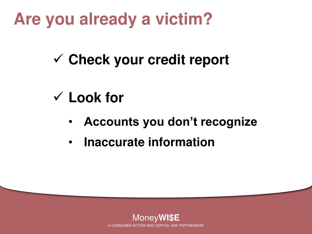 Are you already a victim?