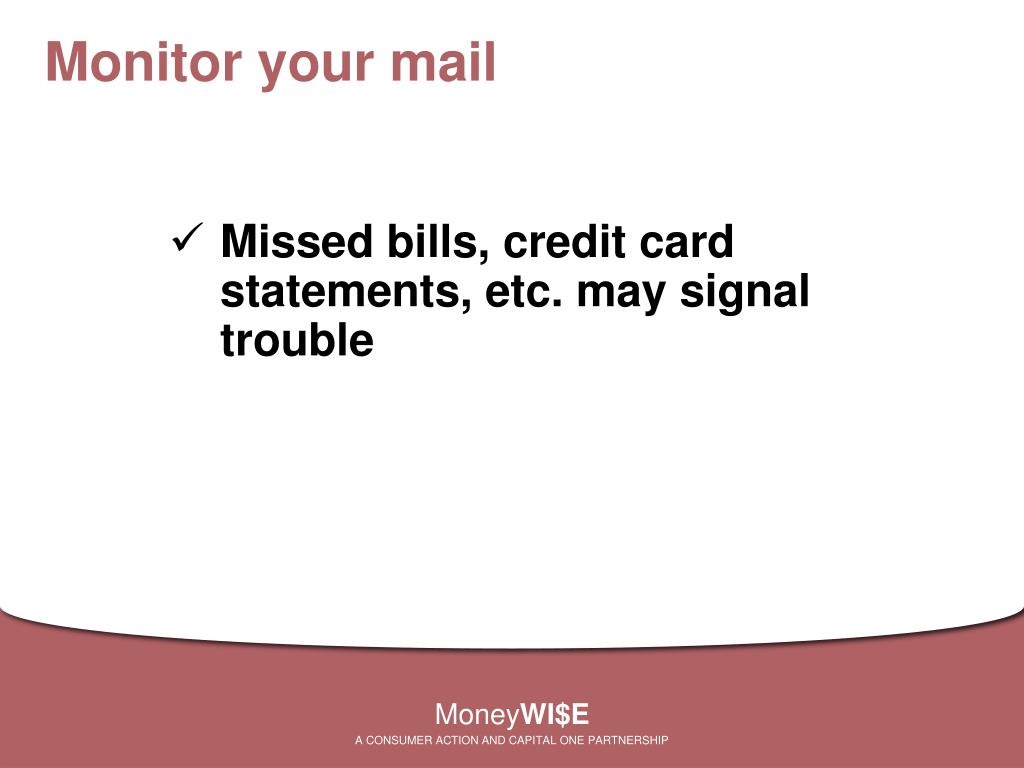Monitor your mail