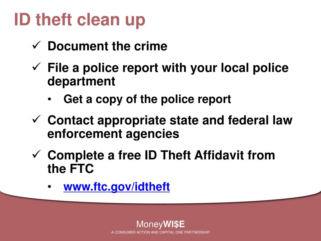 ID theft clean up