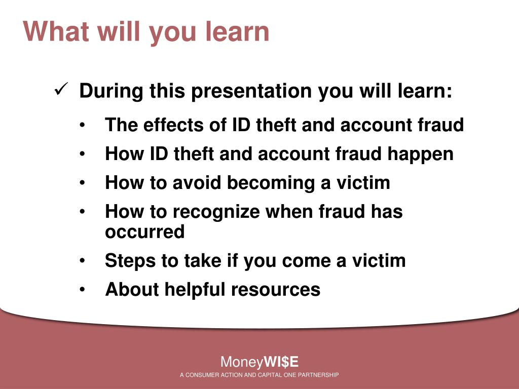 What will you learn