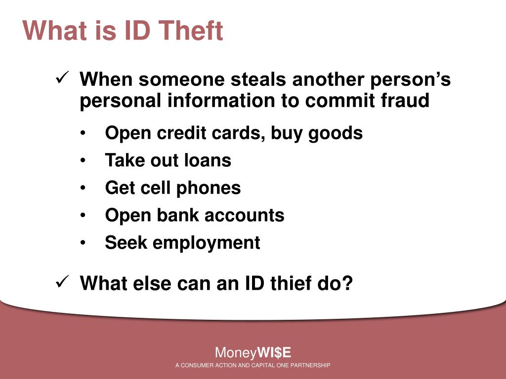 What is ID Theft