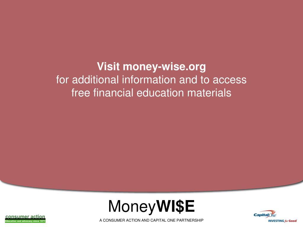 Visit money-wise.org