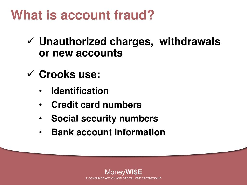 What is account fraud?