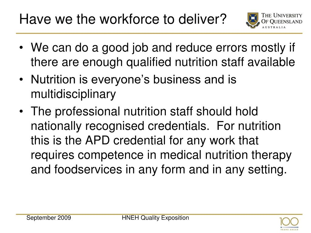 Have we the workforce to deliver?