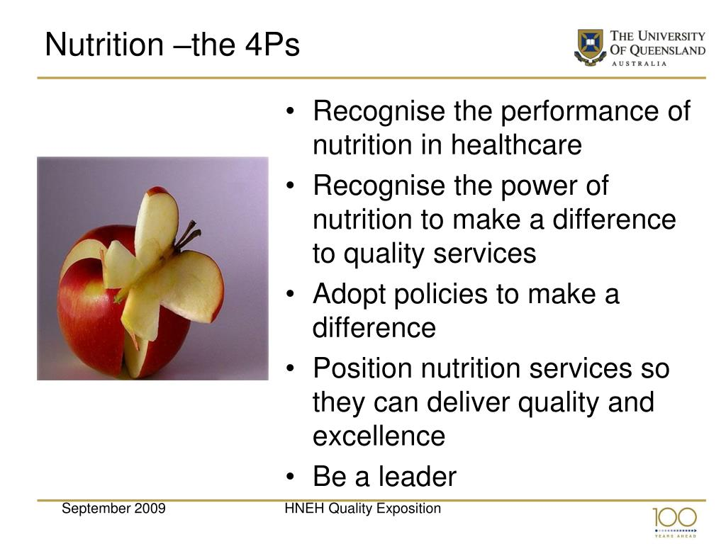 Nutrition –the 4Ps