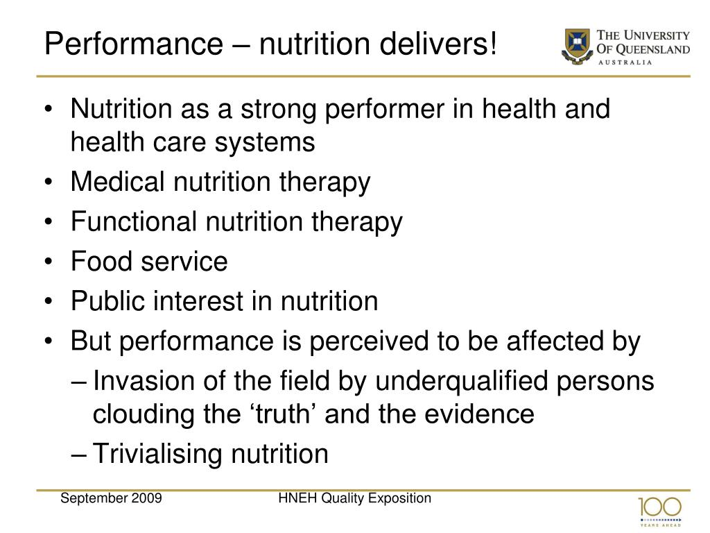 Performance – nutrition delivers!
