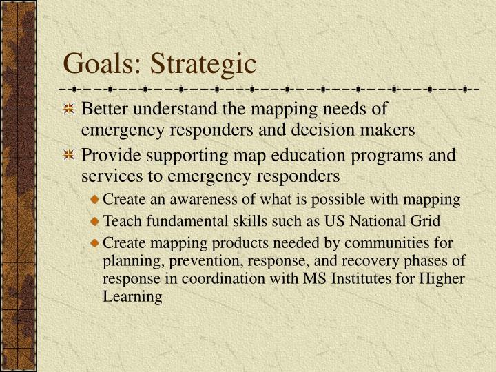 Goals: Strategic