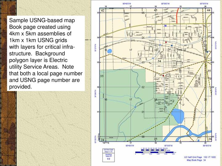 Sample USNG-based map