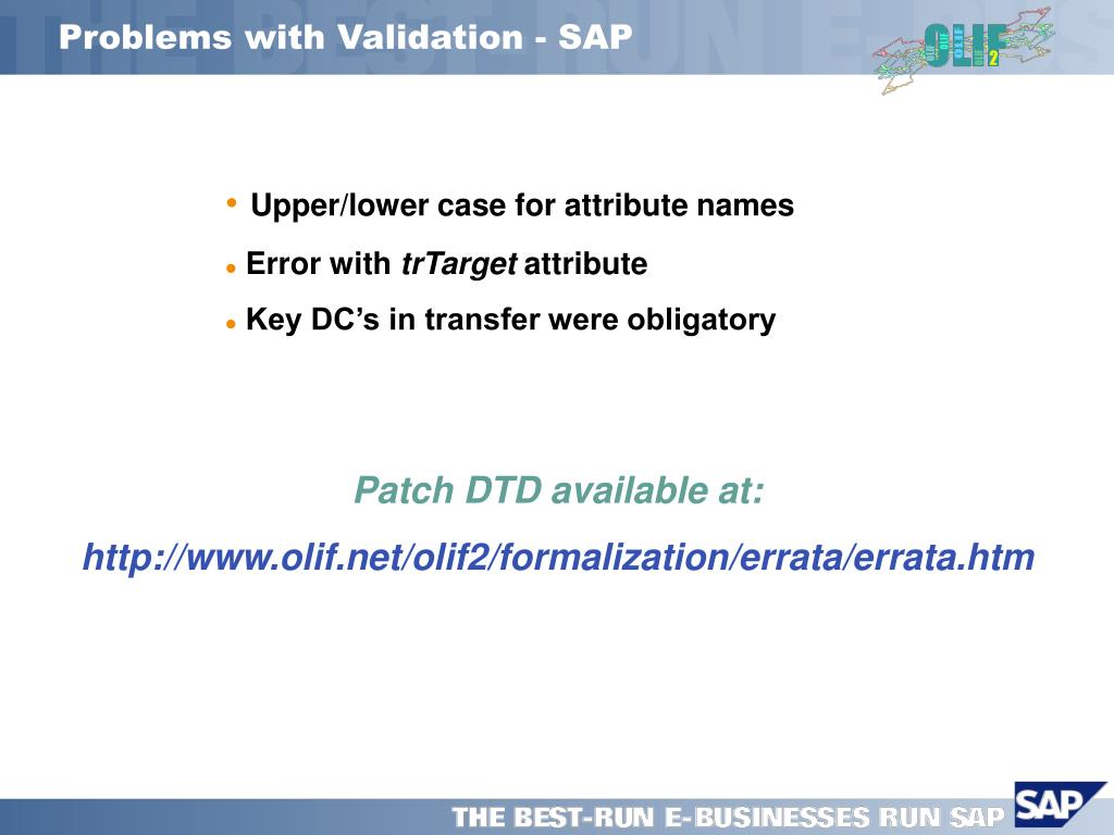 Problems with Validation - SAP