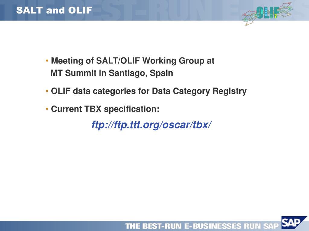 SALT and OLIF