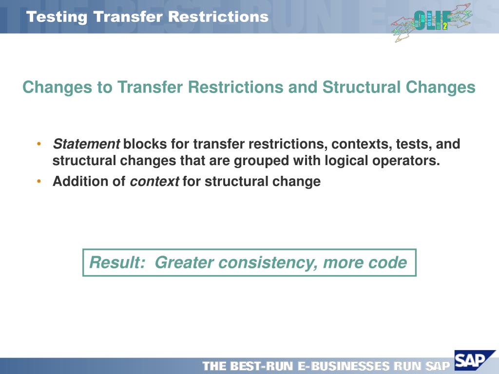 Testing Transfer Restrictions