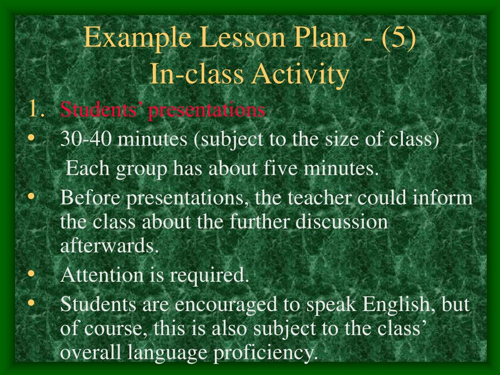 Example Lesson Plan  - (5)