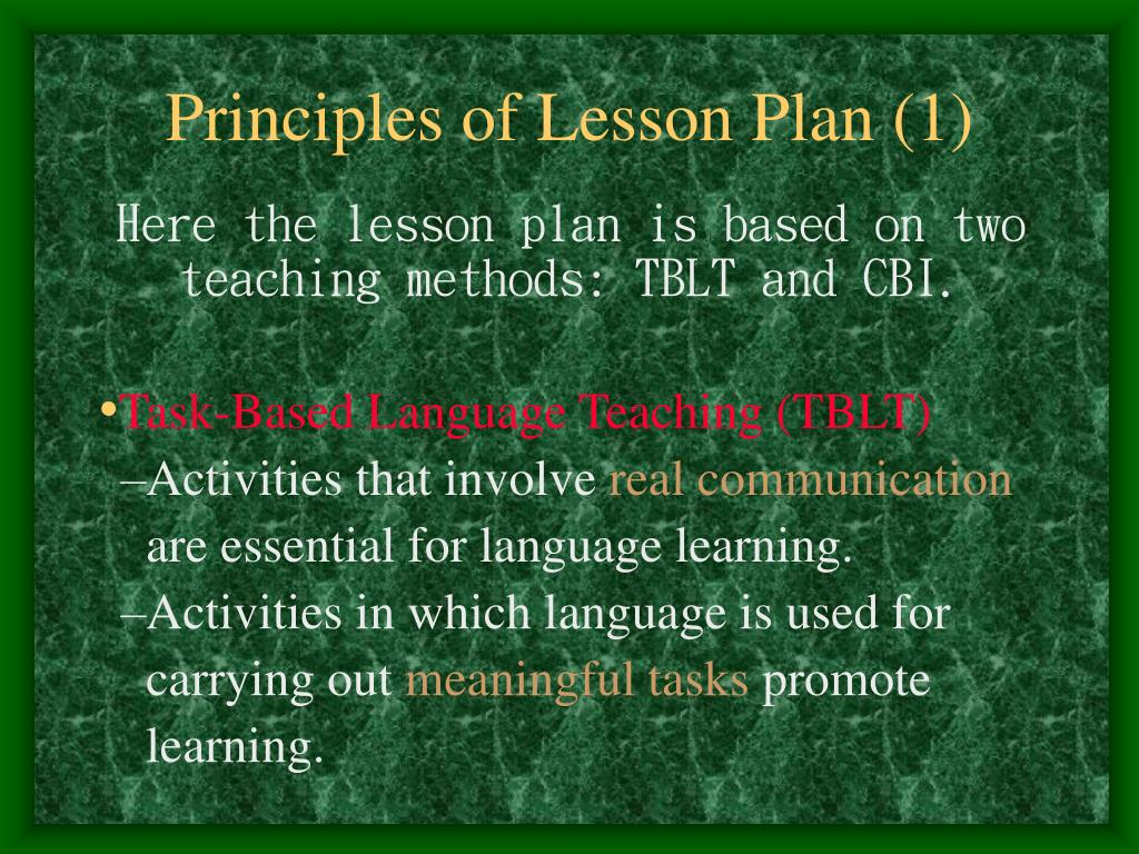 Principles of Lesson Plan (1)