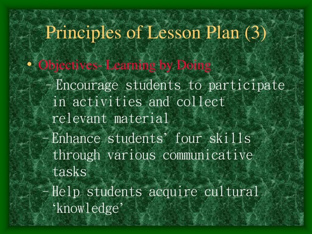 Principles of Lesson Plan (3)