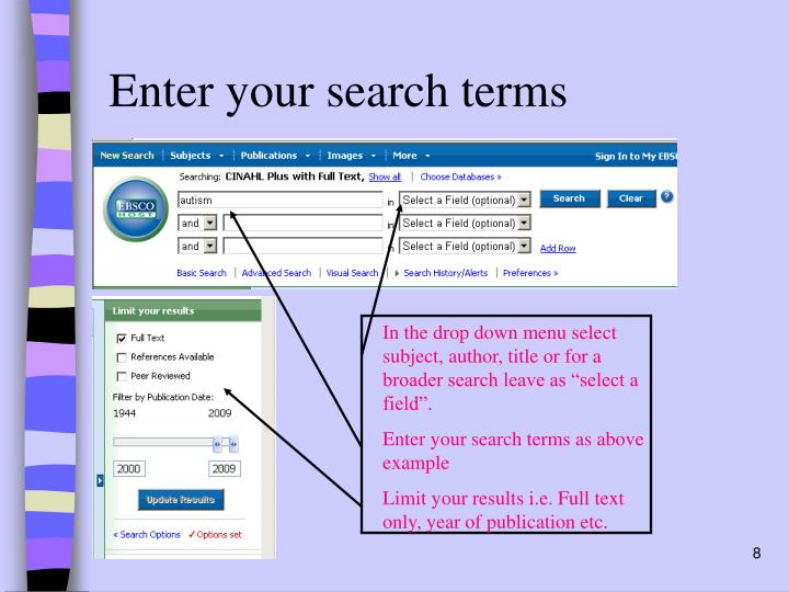 Enter your search terms