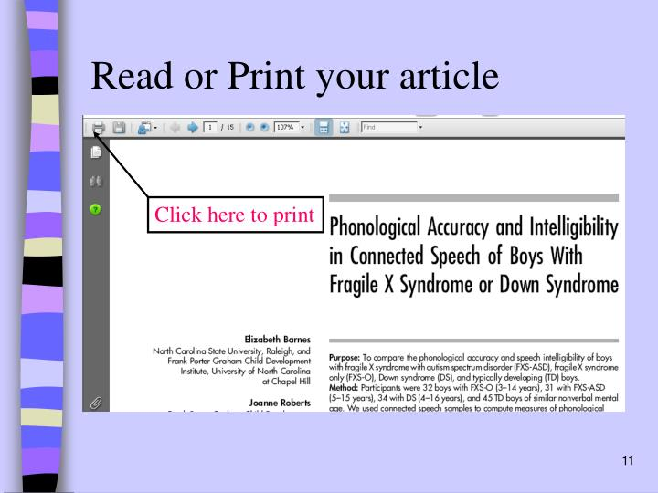 Read or Print your article
