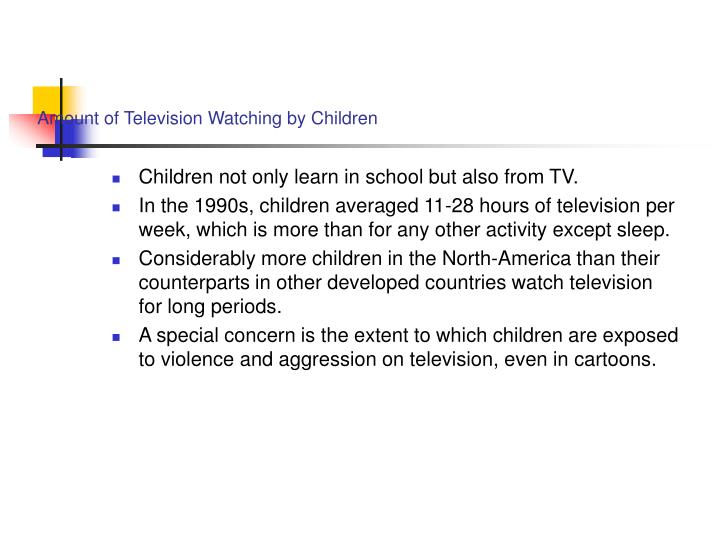 Amount of Television Watching by Children