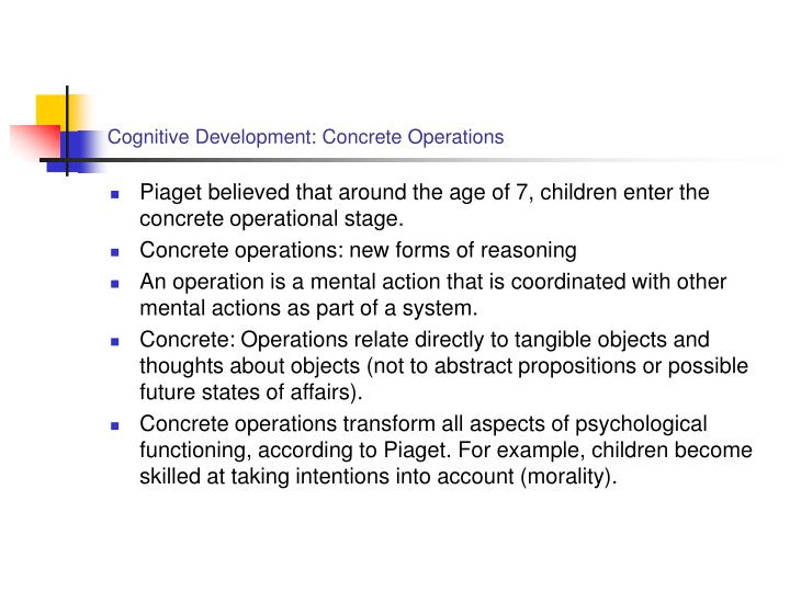 Cognitive development concrete operations