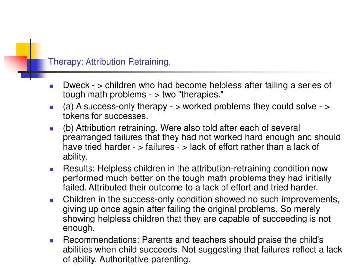 Therapy: Attribution Retraining.
