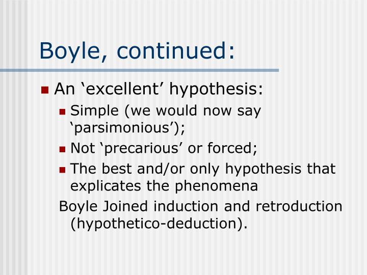 Boyle, continued: