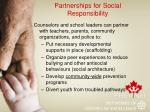 partnerships for social responsibility