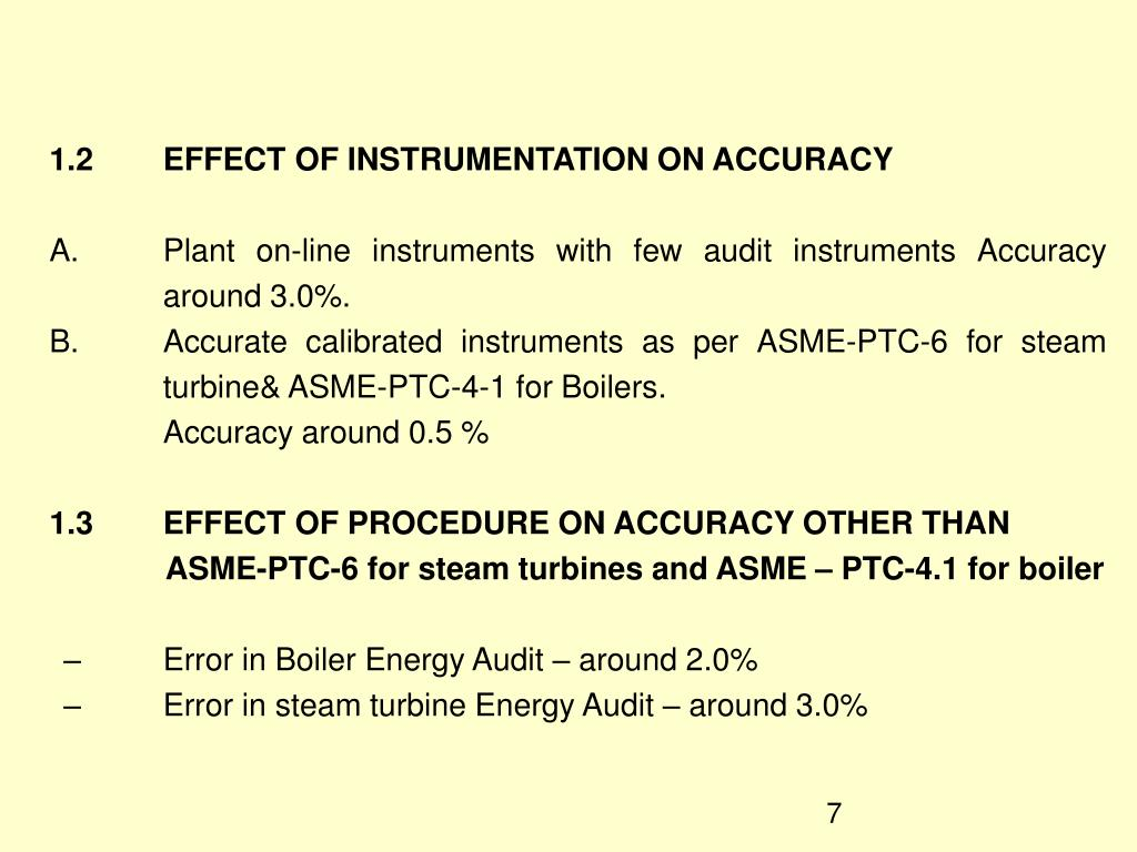 1.2	EFFECT OF INSTRUMENTATION ON ACCURACY