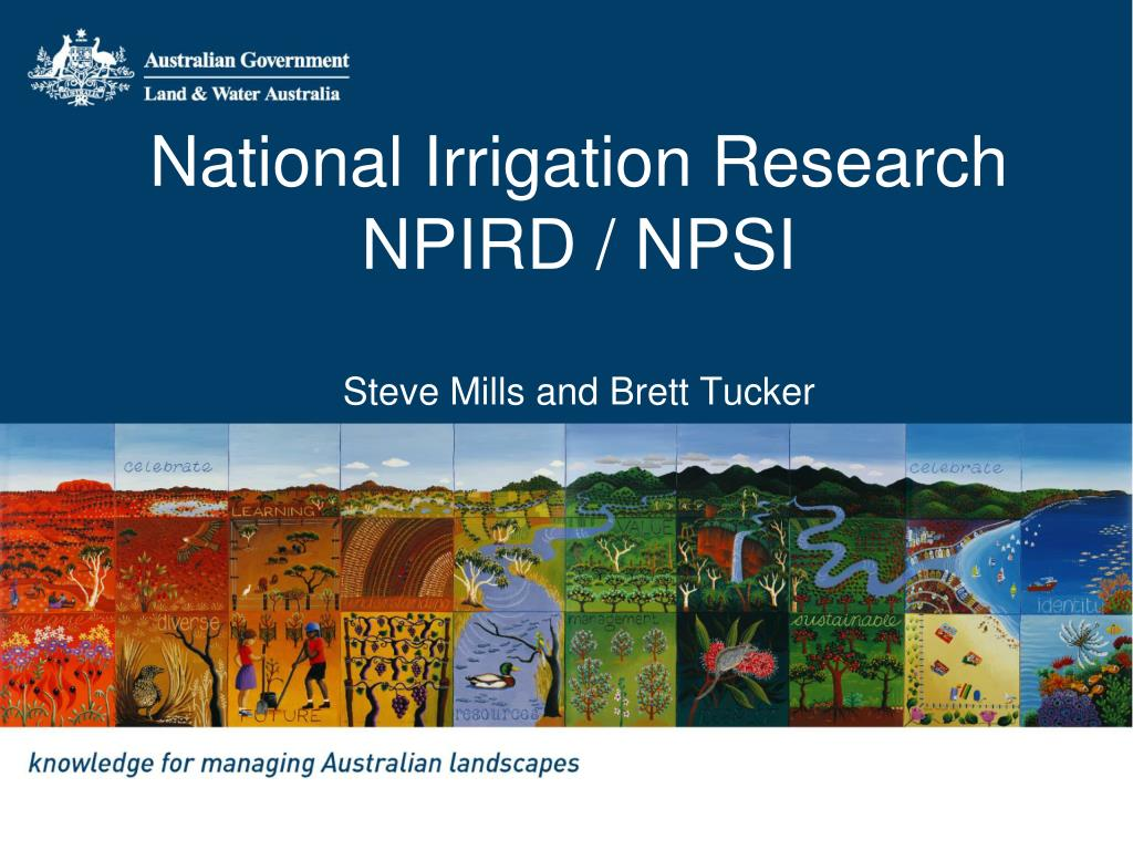 National Irrigation Research