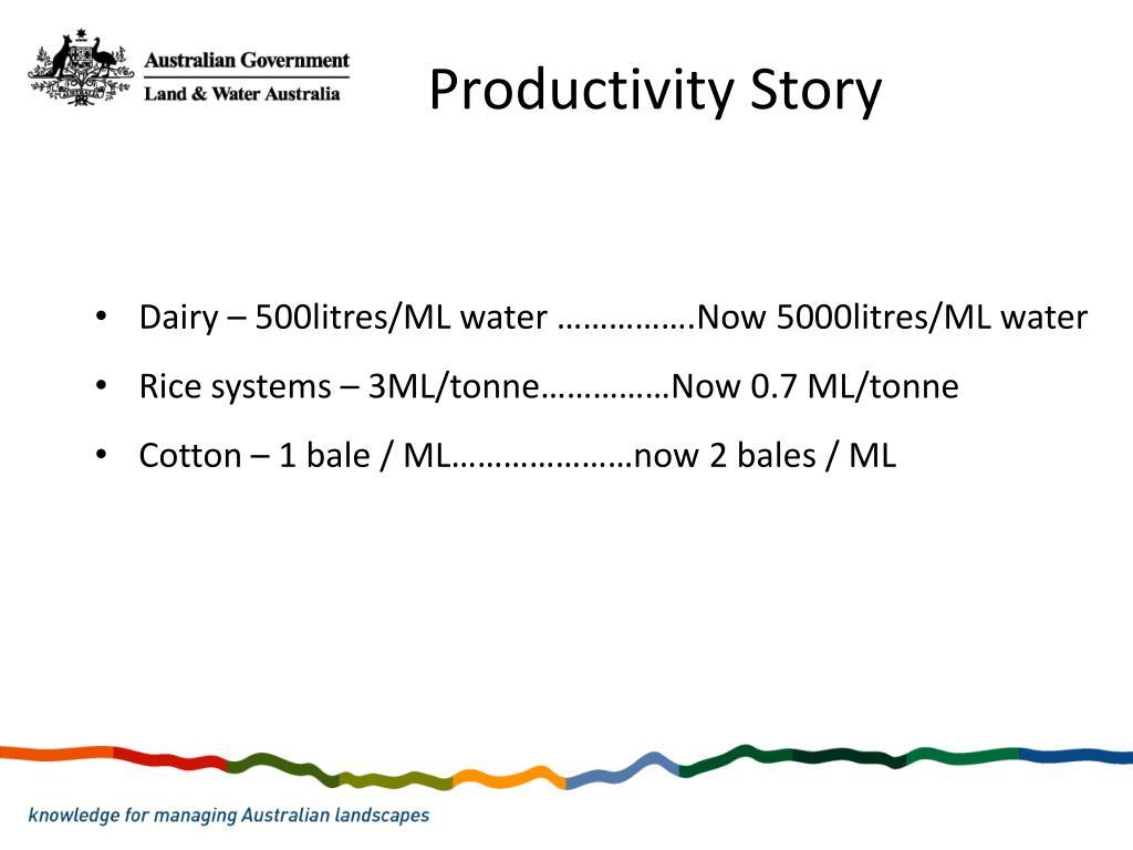 Productivity Story