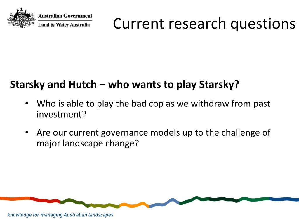 Current research questions