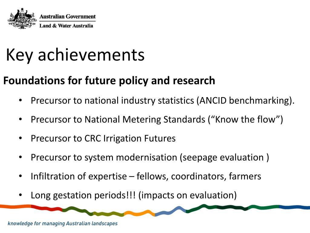 Key achievements