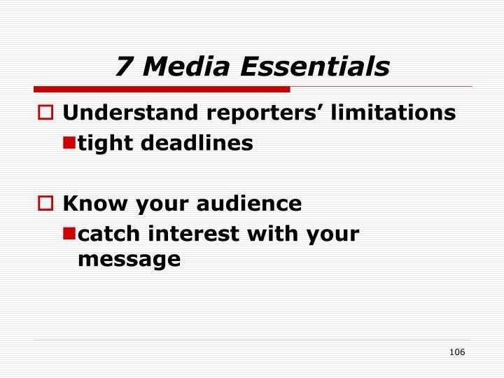 7 Media Essentials