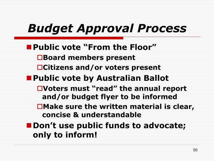 Budget Approval Process