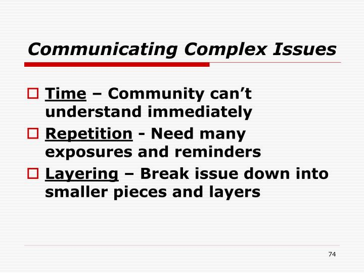Communicating Complex Issues