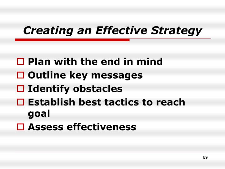 Creating an Effective Strategy