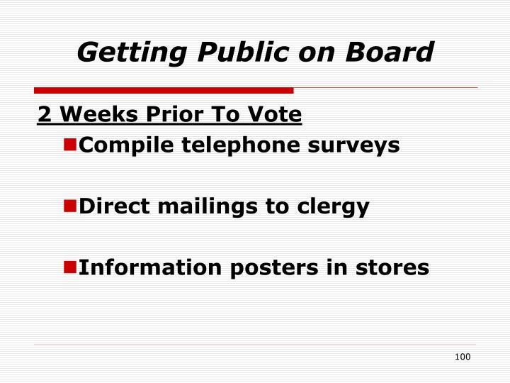 Getting Public on Board