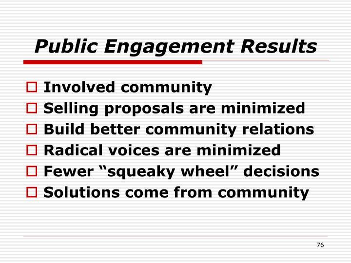 Public Engagement Results