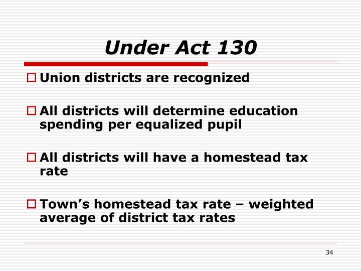 Under Act 130