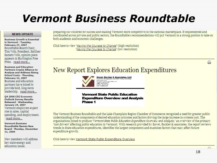 Vermont Business Roundtable